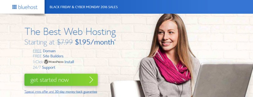 BlueHost Black Friday & Cyber Monday Promotions - Just $1.95