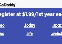 GoDaddy Flash Sale for Feb: Domains for just $1.99/each