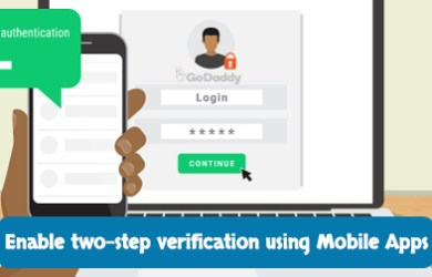 godaddy 2-step verification google authenticator