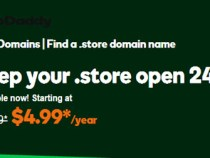 Register a .Store domain for just $4.99 at GoDaddy
