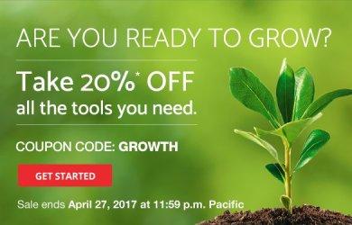 domain.com 20% off april coupon
