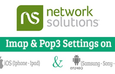 Network Solutions email setting on mobile