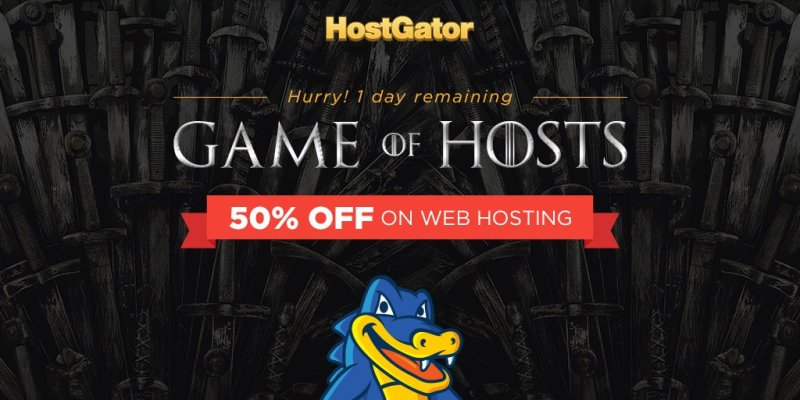 HostGator India 50% off web hosting for one day only !
