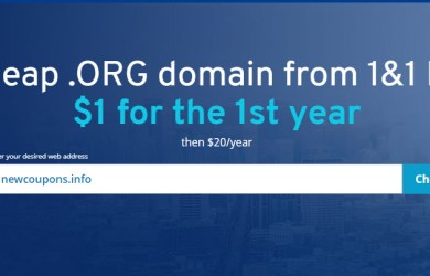 .org domain for 1usd from 1and1 ionos