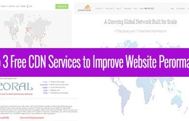 top 3 free cdn services