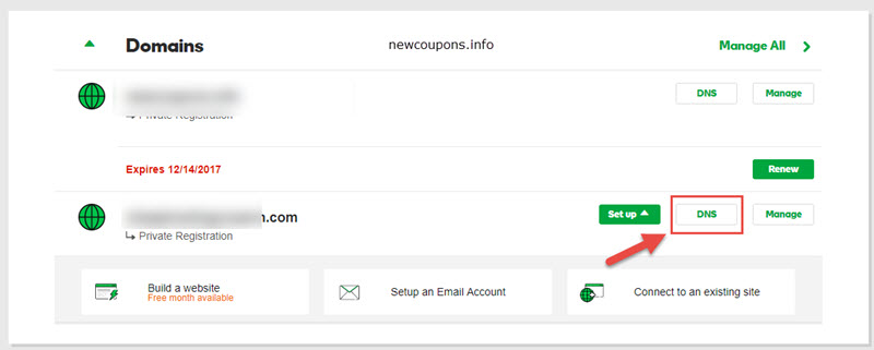 How to point a GoDaddy Domain to a DigitalOcean Droplet?