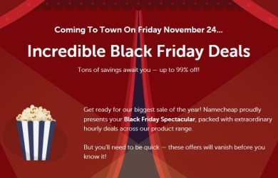 namecheap blackfriday cybermonday 2017 deals