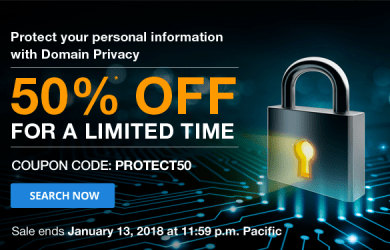 domain.com 50% off domain privacy