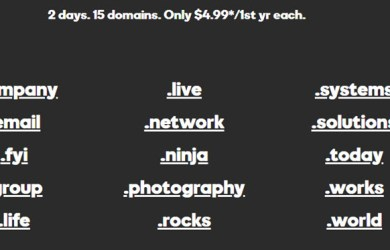 godaddy 15 domains for 4usd each