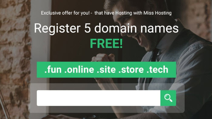 Specials - Get Free Domain Names at StableHost