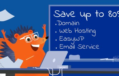 namecheap 80percent off domain hosting email easywp
