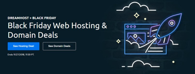 DreamHost Black Friday Web Hosting & Domain 2018 Deals