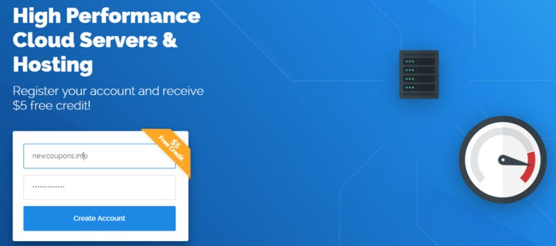 Vultr Gives $5 Free Credit To New Customers