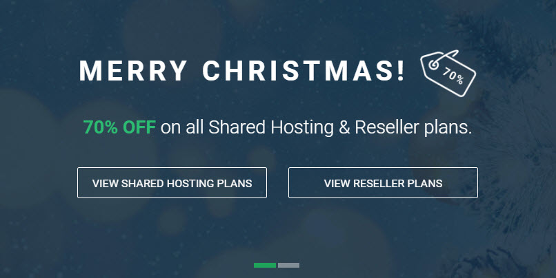 Merry Christmas! StableHost Discounts 70% Off on all Shared Hosting & Reseller Plans