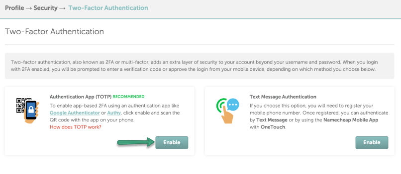 NameCheap launches new TOTP 2FA - How to Enable It