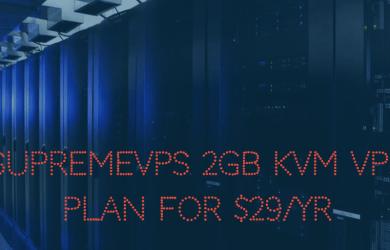 SUPREMEVPS 2GB KVM VPS PLAN FOR $29