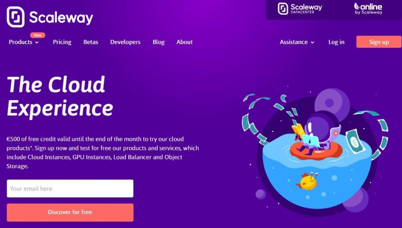 Scaleway - Get Started For Free With Up To €500 Credits