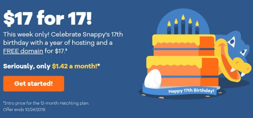 HostGator 17th Birthday Sale! Hatchling Plan For Only $17/year