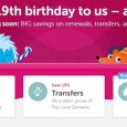 Namecheap 19th birthday deals