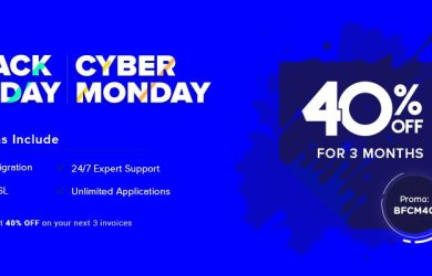 Cloudways black friday cyber monday 2019 deals