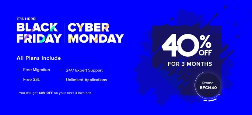 CloudWays Black Friday & Cyber Monday 2019 Deals