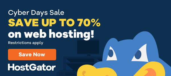 HostGator 70% Off Black Friday 2019 Sale - Free Domain