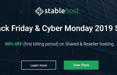 stablehost black friday sale