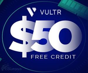 vps vultr free 50$