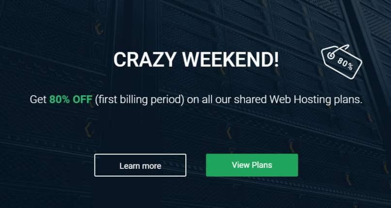 StableHost Crazy Weekend Sale! 80% OFF Web Hosting