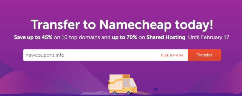 45% OFF NameCheap Domain Transfer Sale - Including .COM .NET