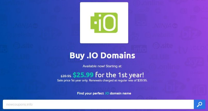 DreamHost - .IO Registration For $25.99 - Lowest In Market