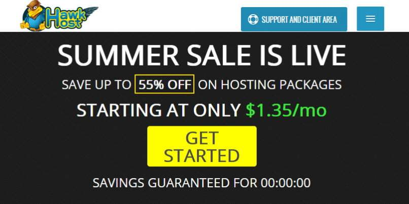 HawkHost Summer Sales - Save Up To 55% OFF For Life