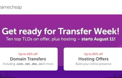 NameCheap Transfer Week Sale
