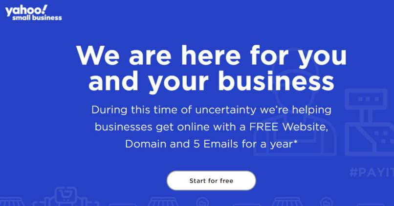 Get A Free .COM/.NET/.ORG Domain From Yahoo