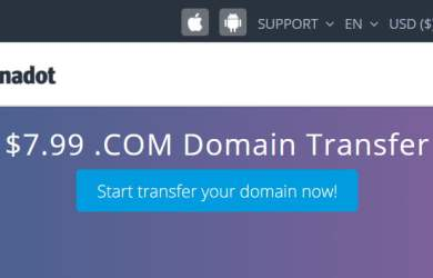 Dynadot .Com Domain Transfer Promo For $7.99