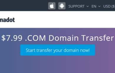 Dynadot .Com Domain Transfer Promo For $7.99