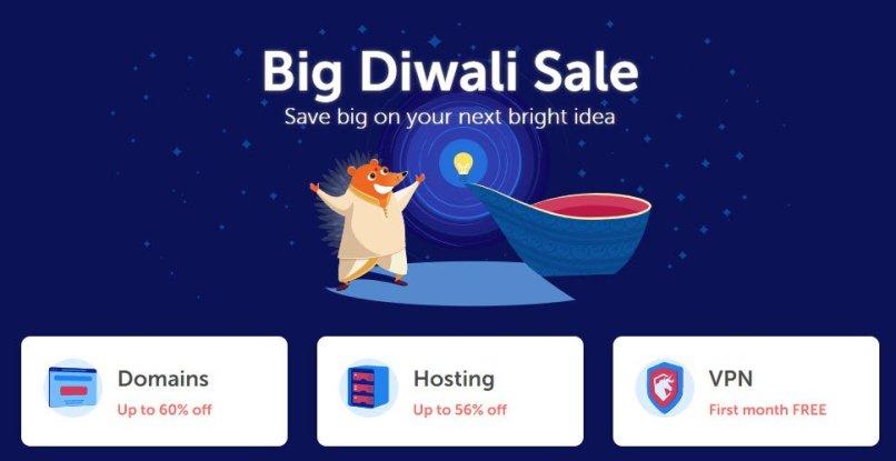 NameCheap Diwali Sale - 60% OFF Domains - 56% OFF Hosting