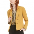 Bar III Women's Faux-Double-Breasted Blazer Brown Size Small for $119