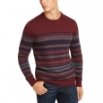 Club Room Men's Stripe Cotton Sweater Red Size XX-Large for $94