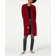 Hooked Up By Iot Juniors' Cozy Rib-Knit Cardigan Red Size X-Small for $94