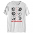 Hybrid Men's Star Wars Kanji Graphic T-Shirt White Size XX Large for $23