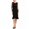 Kasper Scalloped-Hem Women's Sleeveless Dress Black Size 12 for $119