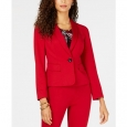 Kasper Women's One-Button Shawl Collar Blazer Red Size 18 for $119