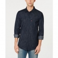Levi's Men's Matthew New Western Denim Shirt Black Size Medium for $34