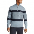 Nautica Men's Blue Sail Navtech Quarter-Zip Sweater In Engineered Stripe Blue Size XXX Large for $119