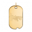 NCAA 10k Yellow Gold U. of Nebraska Large Dog Tag Pendant for $1,077