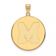 NCAA 14k Gold Plated Silver U. of Memphis XL Disc Pendant for $66