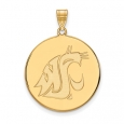 NCAA 14k Gold Plated Silver Washington State XL Disc Pendant for $66