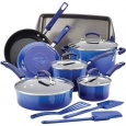 Rachael Ray 17463 14-Piece Cookware Set - Blue Gradient for $199