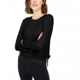 Rebellious One Juniors' Side-Ruched Top Black Size Medium for $34